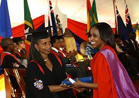 Student receiving certificate